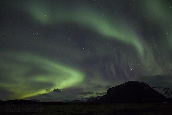 Islandia, zorza polarna